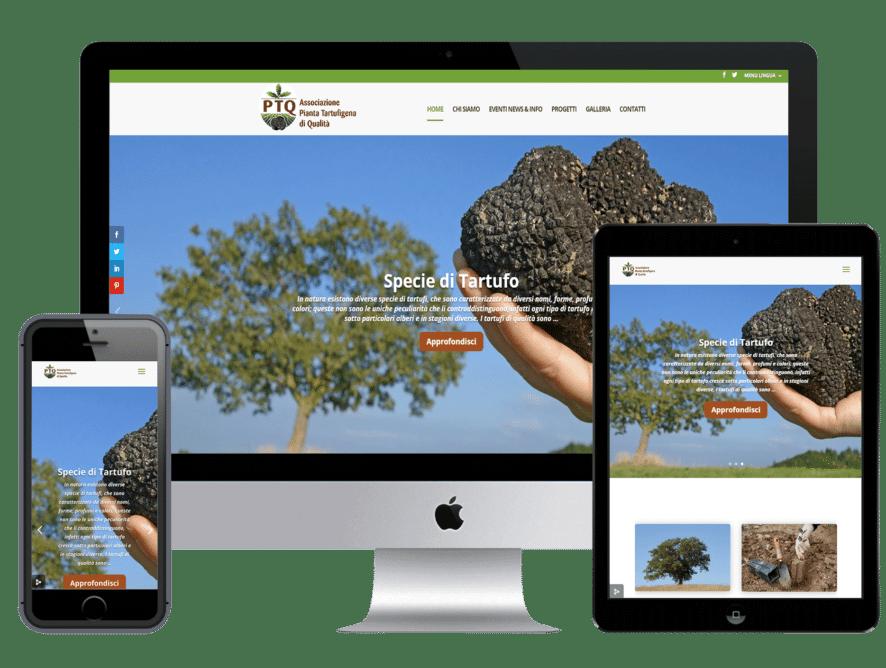 Realizzazione Sito Web Aziendale Associazione Pianta Tartufigena di Qualità