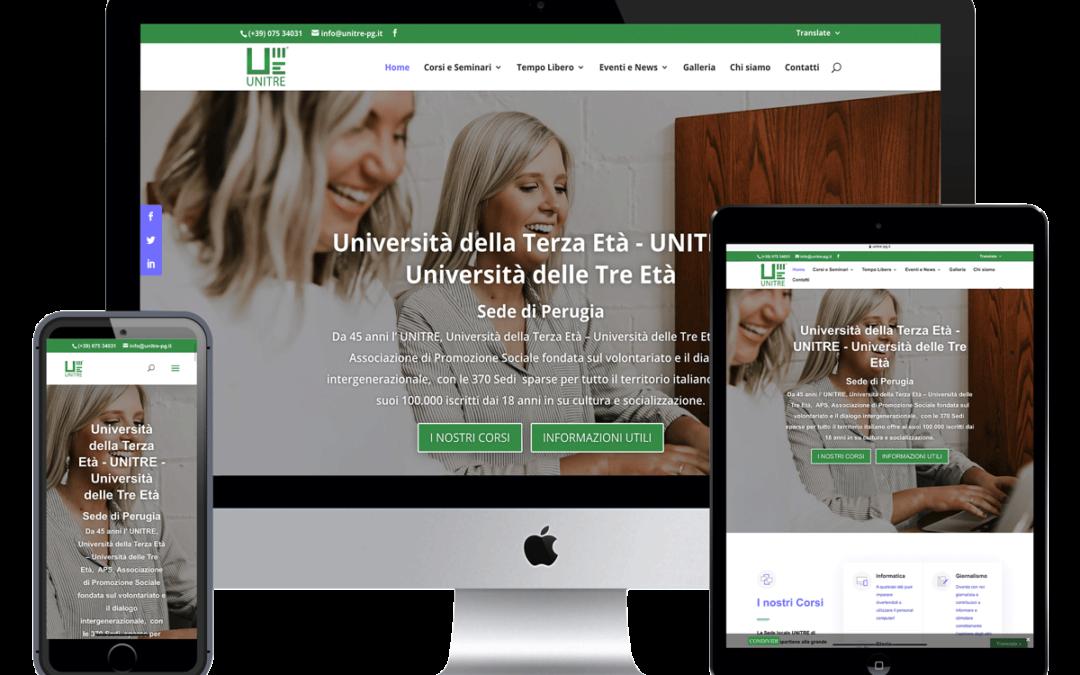 Realizzazione Sito Web Università della Terza Età – UNITRE – Università delle Tre Età Sede di Perugia